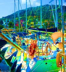 NathalieLauro, grafic art, digital art, colors, design, variations,boats, habor, sea, sun,  , Monaco, Monte Carlo, French Riviera, Cannes. Marseille, Corsica,Hambour, (111)