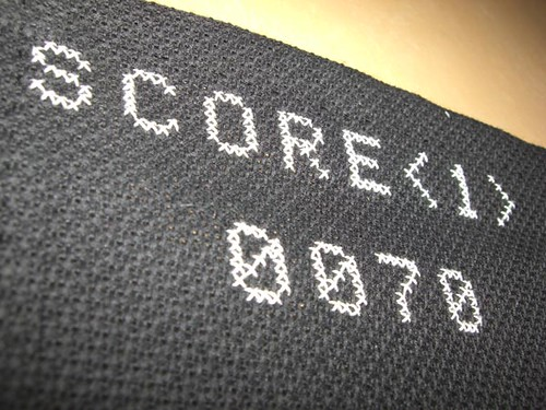 Score cross stitch pattern