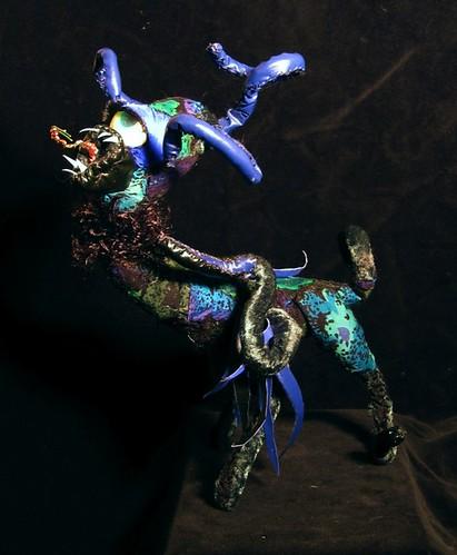Shantak - lovecraftian parrot by chatnoirstudios