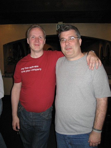 Monty with Keith Murphy (MySQL Magazine)