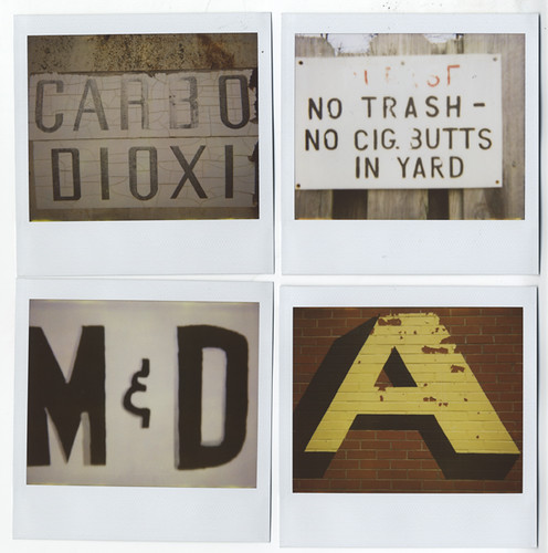 Vernacular Typography Polaroids Flickr Photo Sharing