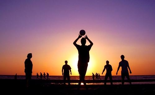 sunset beach silhouettes ysplix theunforgettablepictures
