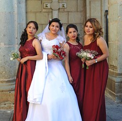 Bride and Bridesmaids Oaxaca Mexico