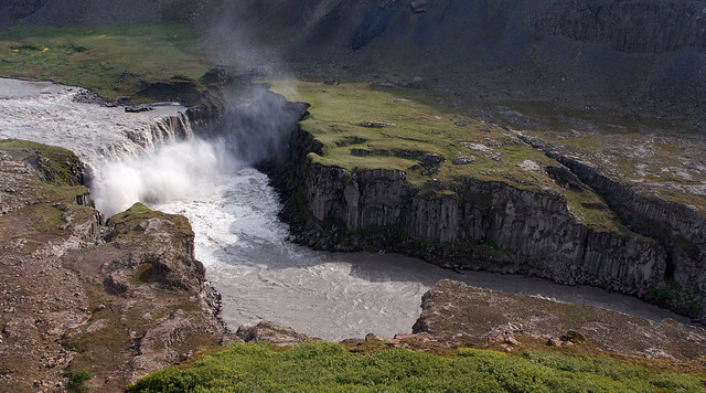 Cascada de Hafragilsfoss. Parque Nacional Jökulsárgljúfur. Islandia
