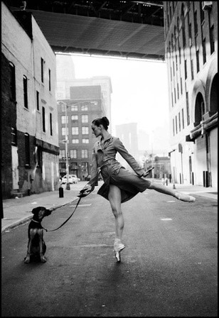 Ballerina and dog