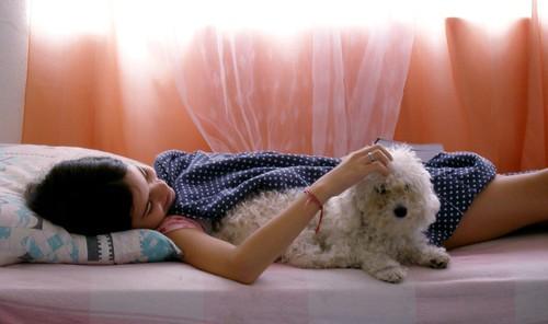 child&dog