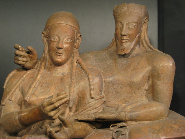 etruscan sarcophagus of quotthe married couplequot flickr
