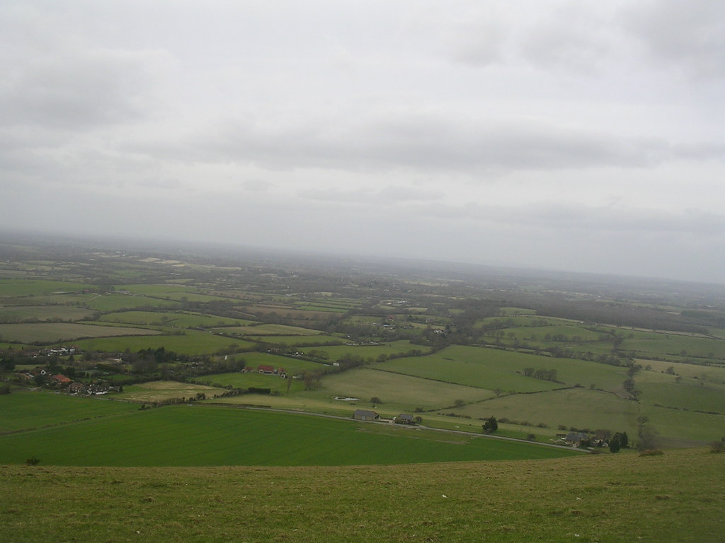 View from the escarpment Hassocks to Upper Beeding