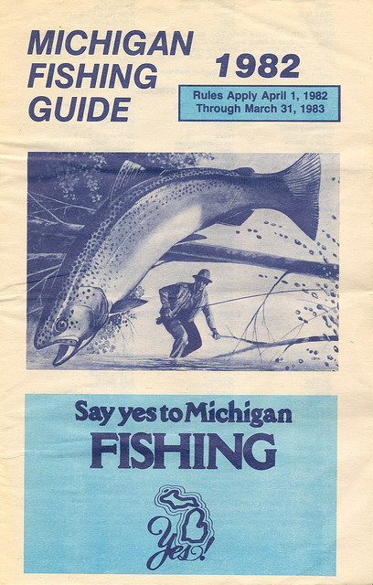 1982 michigan vintage fishing license law digest guide for Fishing license mi