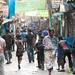 Street Scene in Shakhari Bazar for Holi - Old Dhaka, Bangladesh