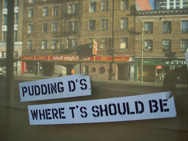 pudding d's where t's should be 2