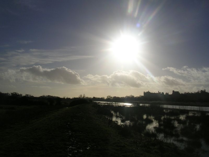 Sun over Arundel Castle Amberley to Arundel