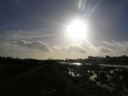 Sun over Arundel Castle