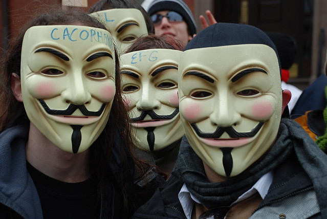 Three Guy Fawkes (Color)