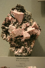Rhodochrosite with arsenopyrite