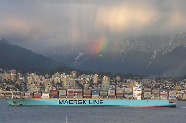 Maersk and a rainbow