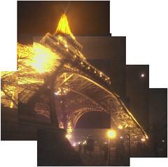 Paris Honeymoon 2003: Eiffel Tower montage (up) by Chris Devers