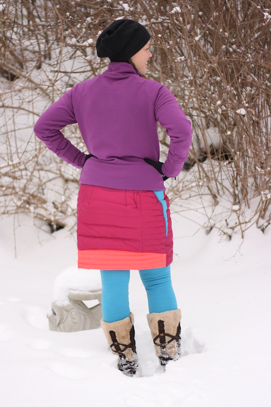 Refashion:  Down Jacket to Down Skirt
