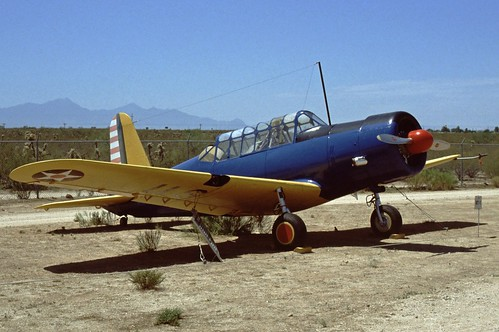 Vultee BT-13 Valiant at the Pima Air & Space Museum, 1980