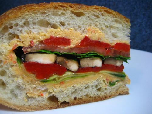 Vegeable Pan Bagnat (Layered Vegetable Sandwich)