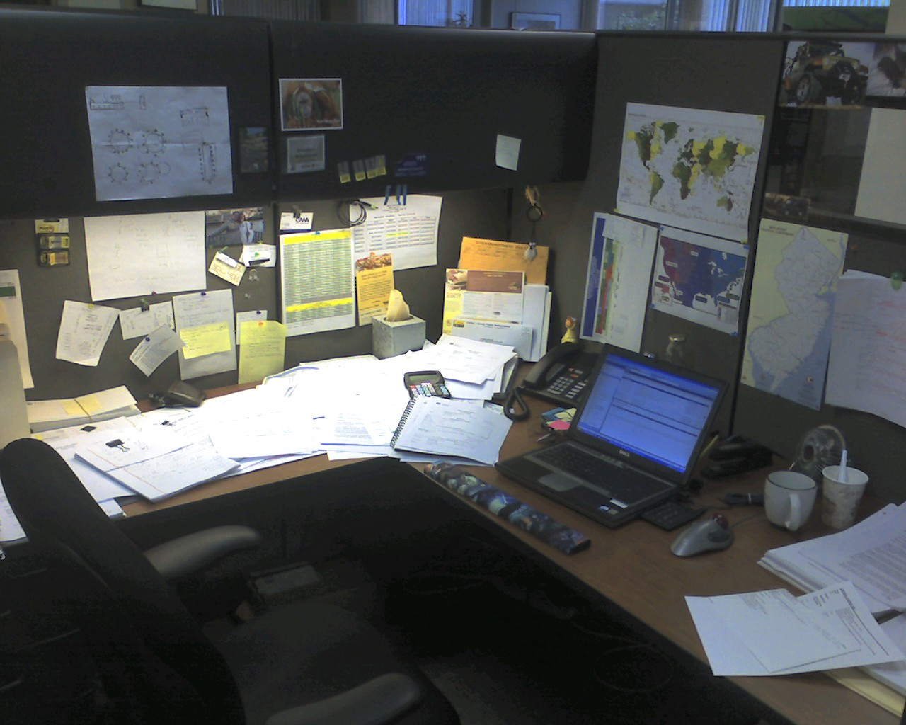 My messy cubicle at th...