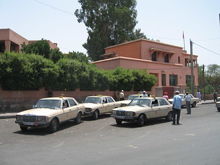The taxis in Marrakech, Morocco