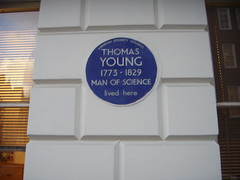 Photo of Thomas Young blue plaque