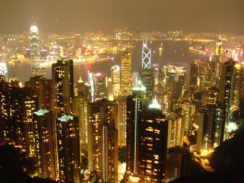 The amazing night of Hongkong