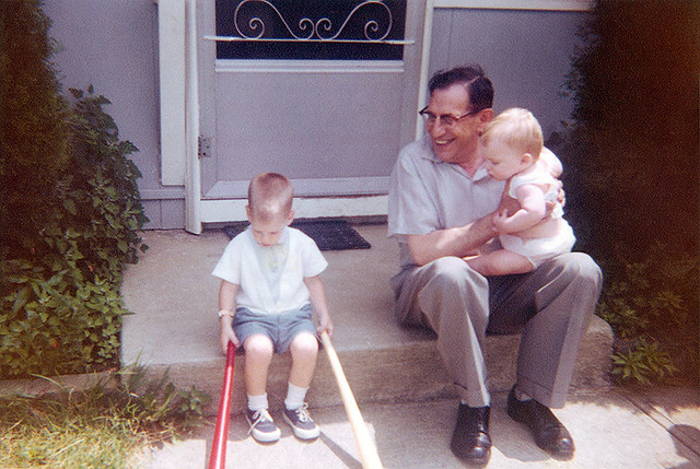 Stevo, Grandpa & Todd 3 July 1960