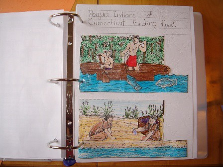 Pequot Indians notebooking