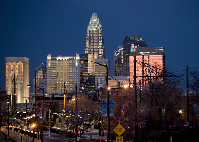 Charlotte Skyline from Southend