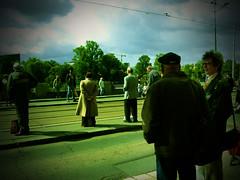 tram waiting