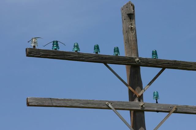 Glass insulators flickr photo sharing for Glass power line insulators
