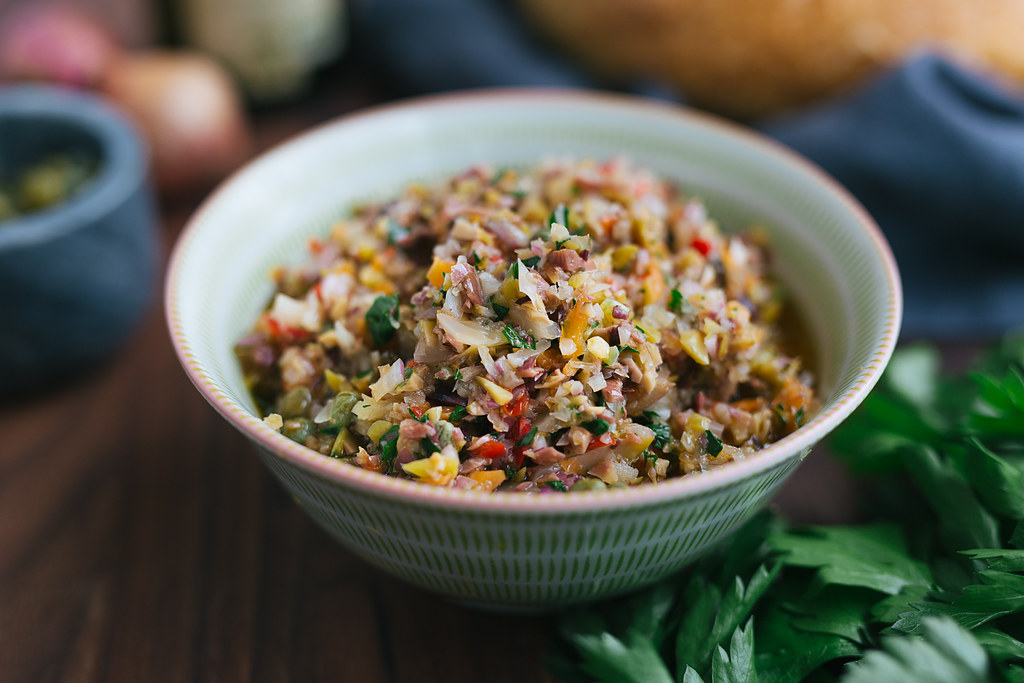 Olive salad for New Orleans Muffuletta