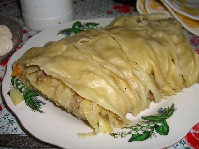 Oromo (Stuffed Kyrgyz Dish) - Manzhyly, Kyrgyzstan