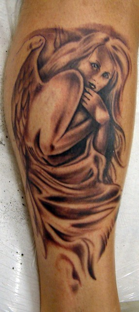 Blonde Angel Tattoo