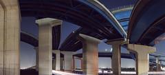 [フリー画像素材] 建築物・町並み, 道路・道, 夜景, 風景 - 日本, 高速道路 ID:201112251200