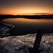 Winter sunset by the lake by Villi.Ingi