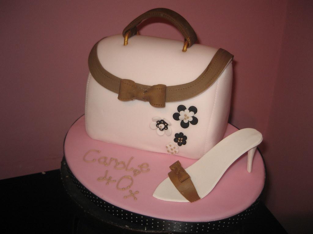 Handbag And Shoe Cake Handbag Cake A Photo On Flickriver