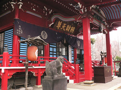 temple, red, shrine,