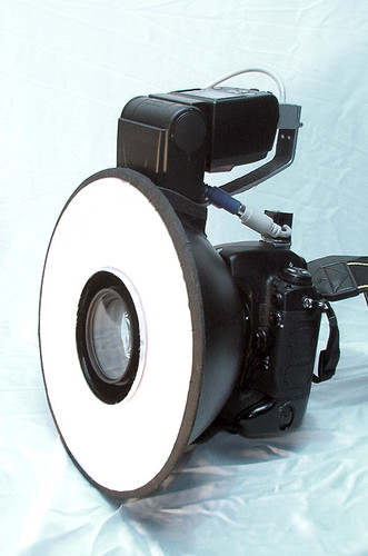 DIY ringflash finished, with camera
