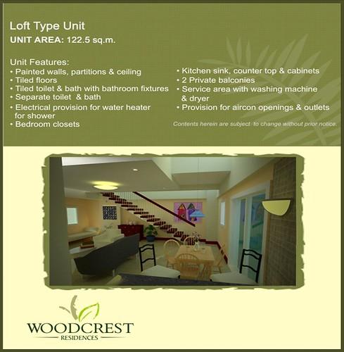 Woodcrest Residences Condominium Loft Type Unit
