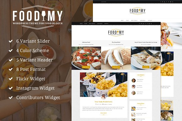 Foodimy v1.0 - Food Blogger WP Theme