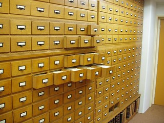 Photo of file drawers