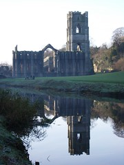 building, monastery, reservoir, reflection, tower, waterway, moat,