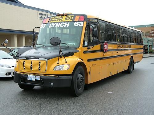 Lynch thomas built school bus richmond bc 2008 0103