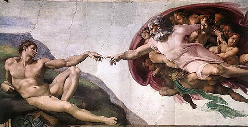 Creation of Adam, Michelangelo Buonarroti