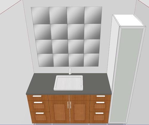 Baltimore rowhouse prelim bathroom designs w ikea sketchup for Linen closet ikea