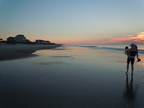 topsail beach morning walk barefoot surfcity beachcombers