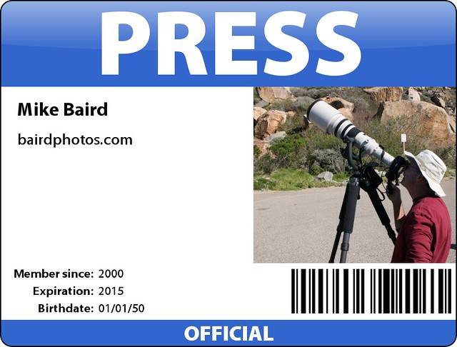 Mikebaird Press Pass Badge Bhl